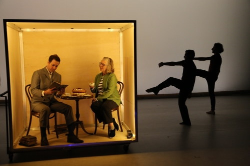 """The Principles of Uncertainty"" with Dance Heginbotham and Maira Kalman; photo Adrienne Bryant"