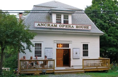 erected in 1927 as Ancram Grange #955. It was repurposed as a performance space in 1972.