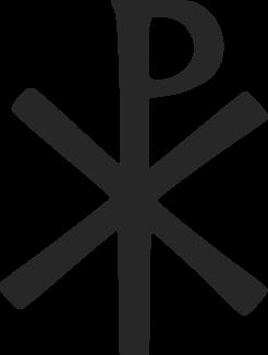 A traditional Chi Rho symbol.