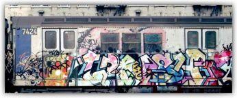 Actual 1970's NYC subway graffiti