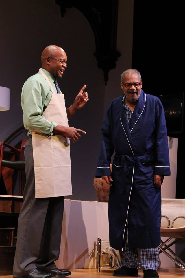 Roger Robinson (right) and Leon Addison Brown in rehearsals for James Anthony Tyler's Some Old Black Man.