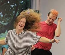 Dance Captain Mae Rogers & Ensemble Member Jerry Greene. Photo Anna Guntner.
