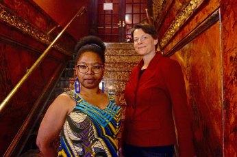 Akiba Abaka and Kristen van Ginhoven. Photo by Todd McNeel, Jr.