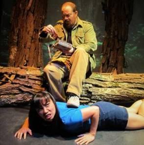 "Julie Pham and Joseph Tisa in Lanford Wilson's ""Redwood Curtain"" Photo by John Sowle"