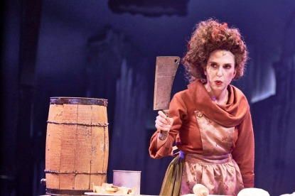 "Emily Kron as Mrs. Lovett in the Mac-Haydn Theatre production of ""Sweeney Todd."""