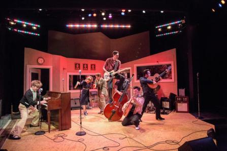 The cast of Million Dollar Quartet. Photo by Emma K. Rothenberg-Ware.