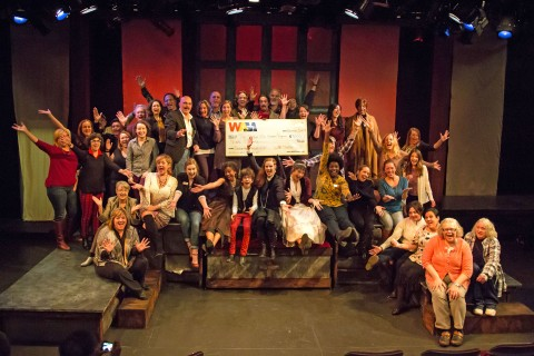 "On November 5 WAM Theatre presented their thirteenth beneficiary, Soldier On Women's Program, with $9,000 - a portion of the box office receipts from their production of ""The Last Wife"" by Kate Hennig. Photo by Emma K. Rothenberg-Ware."