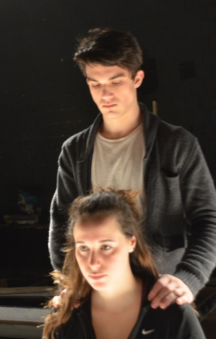 "Makailey Cookis & Aiden Chalfonte in ""I Dream Before I Take the Stand."" Photos credit: Colleen Quinn."