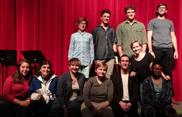 2017 Young Playwright winners and Bennington College actors at the 2017 Jean E. Miller Young Playwrights readings.