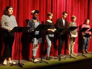 Above- Bennington College actors at the 2017 Jean E. Miller Young Playwrights readings