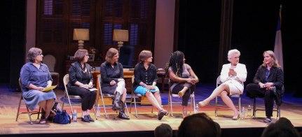 Women in Politics Panel (from left to right): Cynthia Browning, Linda Joy Sullivan, Ruth Hardy, Kathleen James, Kiah Morris, Jayne Atkinson, and Dina Janis.