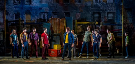 "One of Kristen Robinson's sets for ""West Side Story"" at Barrington Stage Company. Photo Daniel Rader."