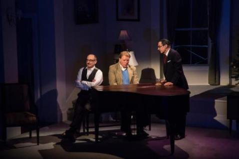"Philip Hoffman as Harold Arlen, David Rasche as Jimmy Van Heusen, and David Garrison as Irving Berlin in Lee Kalcheim's ""Coming Back Like A Song!"" Photo by Emma K. Rothenberg-Ware"