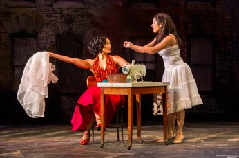 """Berkie award winners Skyler Volpe as Anita and Addie Morales as Maria in the Barrington Stage Company production of """"West Side Story."""" Photo: Daniel Rader."""