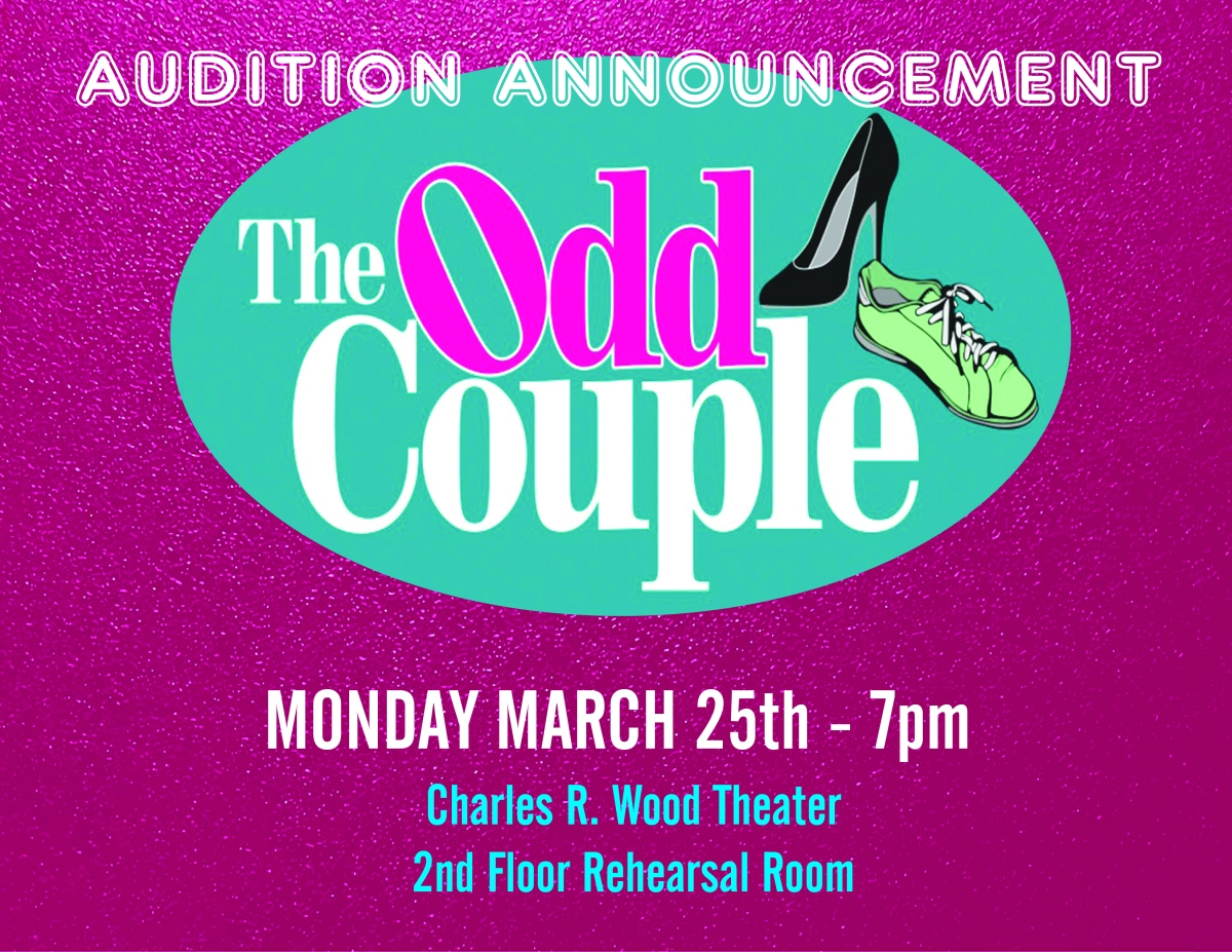 "Glens Falls Community Theatre Auditions for ""The Odd Couple"" (Female Version}"
