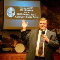 Hubbard Hall Honors WAMC's Joe Donahue with the 2019 Making Art and Community Happen Award at Spring Gala Fundraiser